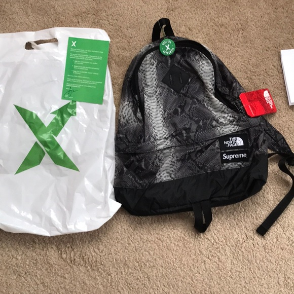 1a5118a8 Supreme Bags | The North Face Snakeskin Backpack | Poshmark